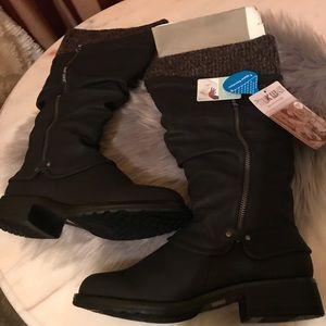 Muk Luks Woman's Brianna  Rider Tall Boots 7